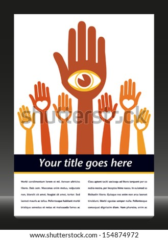 Visionary leader and followers.  - stock vector