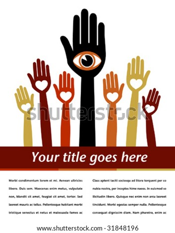 Visionary leader design with copy space. - stock vector