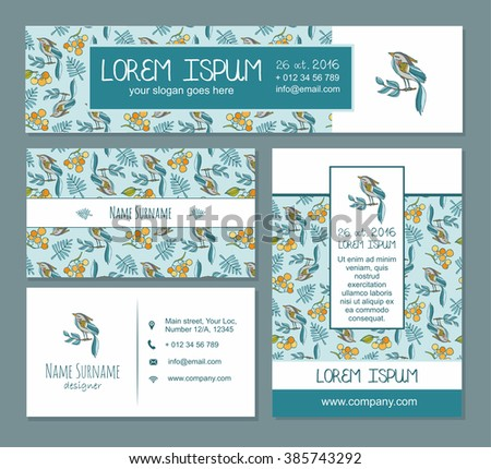 Visiting card identity template business card stock vector 385743292 identity template business card banner flyer placardunique gentle junglespirit Image collections