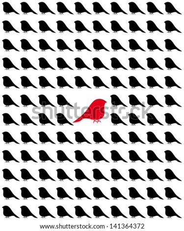 visual concept-selection from the crowd - stock vector