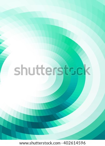Visual illusion of gradient. Abstract background with optical illusion effect. Op art. Vector mosaic tiles. EPS10. Illusion of three dimensional surface. - stock vector