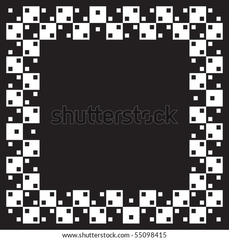 Visual illusion.Vector illustration. Squares are same size and parralel. When image smaller distortion of image in our eyes is stronger. - stock vector