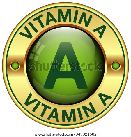 vitamin a icon - stock vector