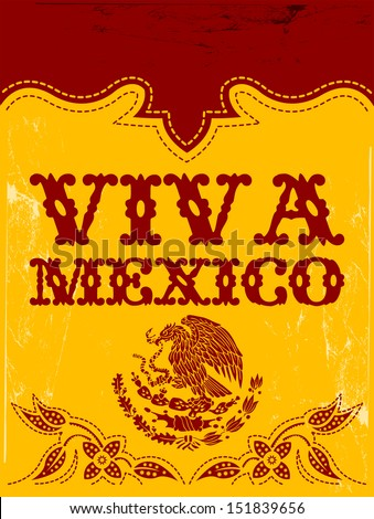 Viva Mexico - mexican holiday vector poster - stock vector