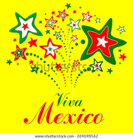 Viva Mexico. Vector Illustration