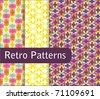 Vivid Retro Patterns - stock vector