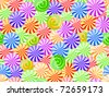 vivid striped candy seamless pattern on white background - stock vector