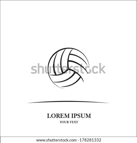 Volleyball ball - stock vector