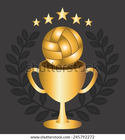 volleyball ball design, vector illustration eps10 graphic - stock vector