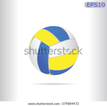 Volleyball ball isolated with shadow.Vector illustration