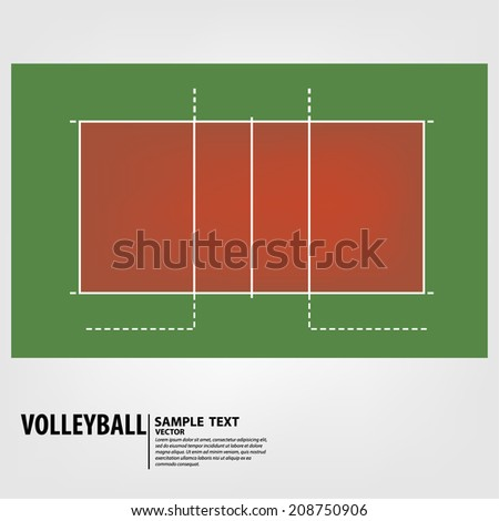 volleyball court - Vector illustration - stock vector