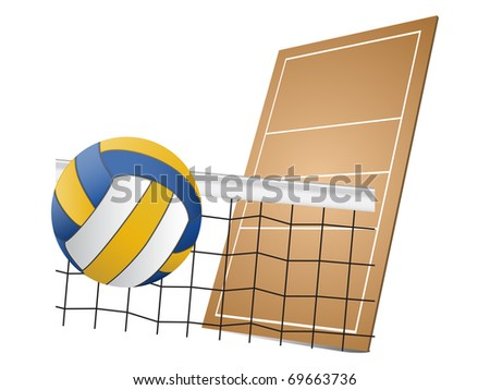 Volleyball design elements - stock vector