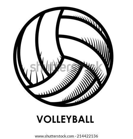 volleyball design over white background vector illustration - stock vector
