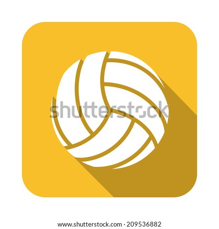 volleyball design over yellow background vector illustration - stock vector