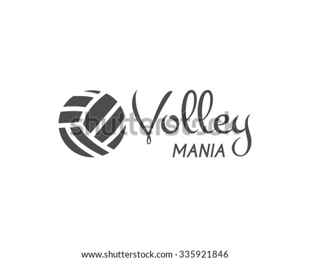 Volleyball label, badge, logo and icon. Sports insignia. Best for volley club, league competition, sport shops, sites or magazines. Use it as print on tshirt. Unique design. Vector illustration - stock vector