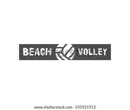 Volleyball label, badge, logo and icon. Sports insignia. Best for volley club, league competition, sport shops, sites or magazines. Use it as print on t shirt. Vector illustration - stock vector