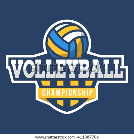 Volleyball logo. American Style.  - stock vector