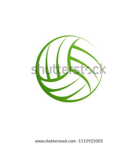 volleyball logo element vector volley ball stock vector royalty