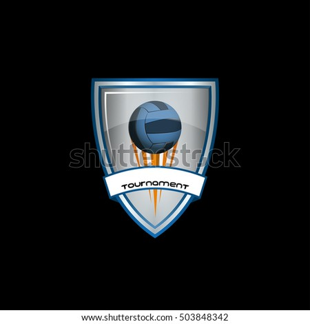 Volleyball logo for the team and the cup