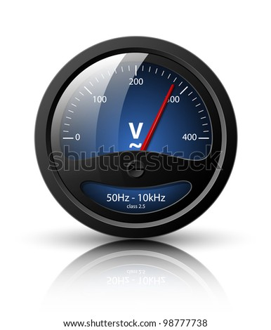 Voltmeter icon. Vector illustration