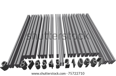 Volume barcode - stock vector