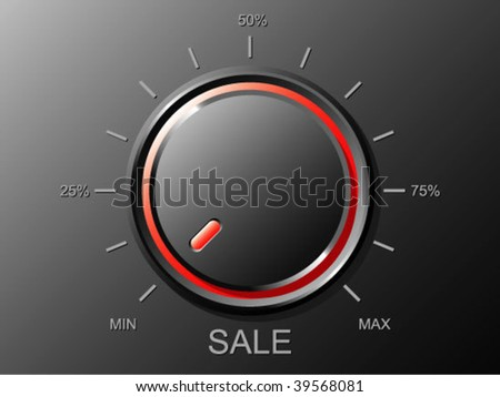 Volume for your sale - stock vector