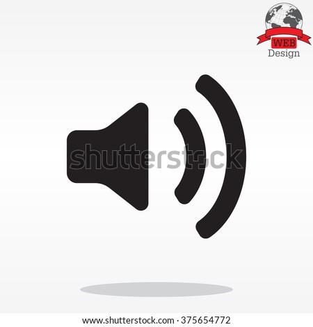 Volume high icon. vector design. - stock vector