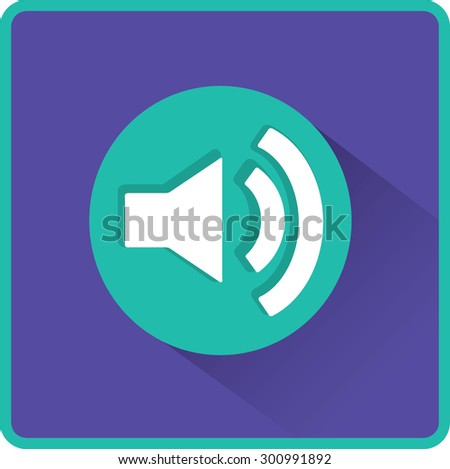Volume icon, vector illustration. Flat design style - stock vector