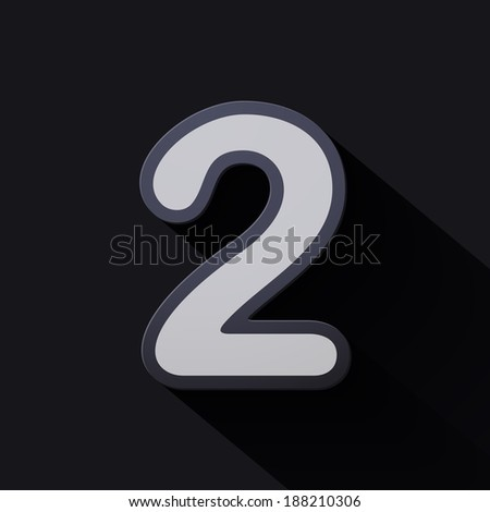 Volume icons number: two. Colorful modern Style. - stock vector