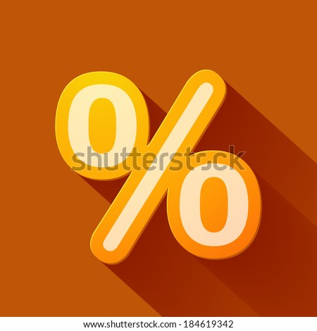 Volume icons symbol: Percent sign . Colorful modern Style. - stock vector
