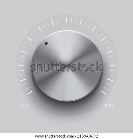 Volume Knob - stock vector