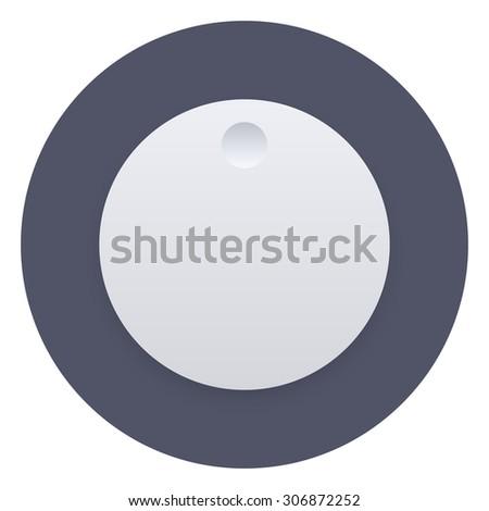Volume music control knob icon, vector illustration, user interface - stock vector