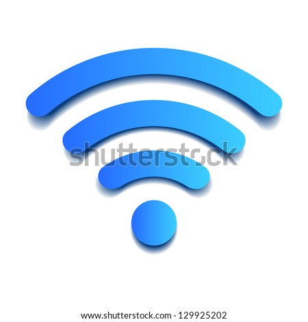 Volume paper wifi - stock vector