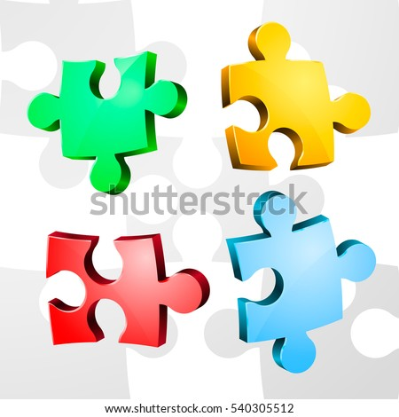 volume pieces of puzzle. vector