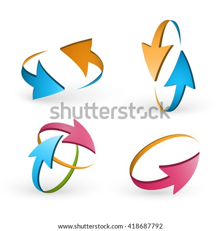 Volume set of cursors, vector graphics.
