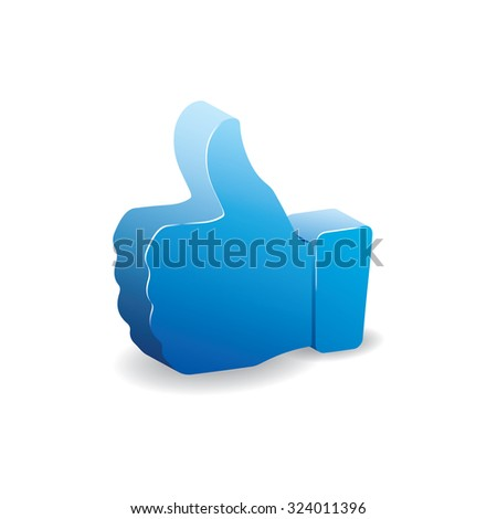 Volumetric 3D like. can be used as icon or button - stock vector