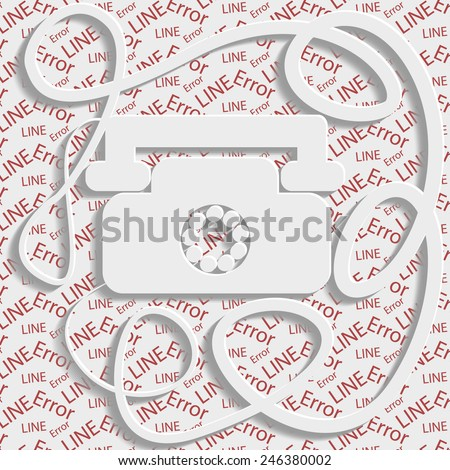 Volumetric phone with shadow, abstract solution - stock vector