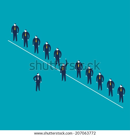 Volunteer - stock vector
