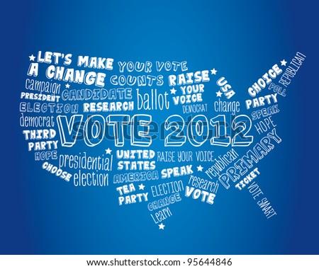 Vote America - stock vector