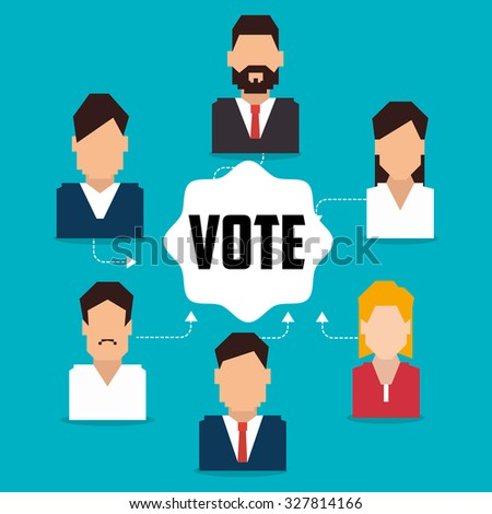 Vote and politician campaign, vector illustration graphic - stock vector