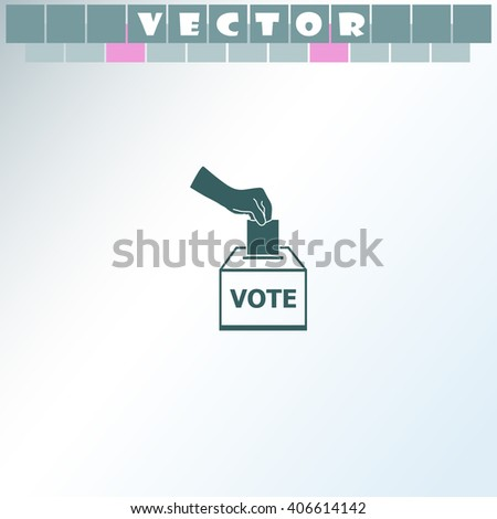 Vote ballot icon. Vote ballot vector. Simple icon isolated on light background. - stock vector
