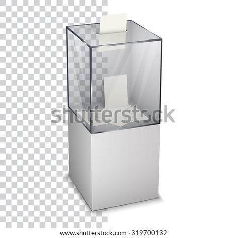 Vote ballot with box. Vector illustration - stock vector
