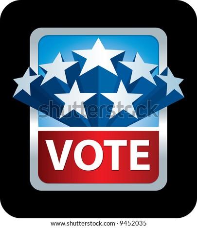 vote banner - stock vector