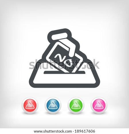 Vote concept icon - stock vector