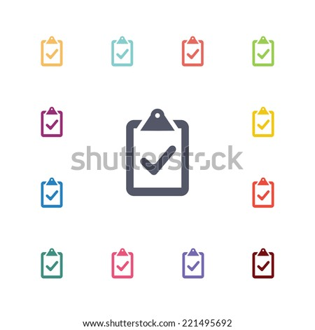 vote flat icons set. Open round colorful buttons. Vector  - stock vector