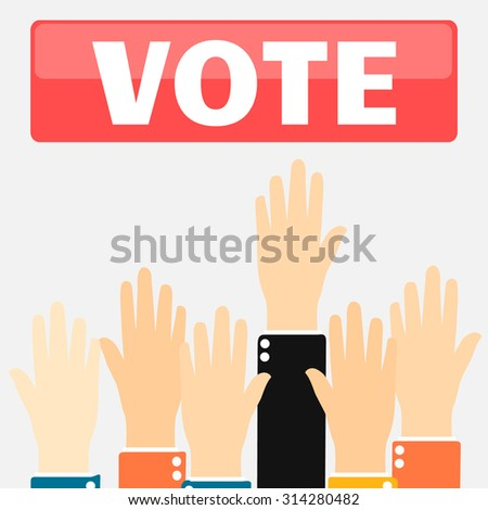 Vote for election vector illustration concept - stock vector