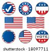 Vote Icon Set. Easy To Edit Vector Image. - stock photo