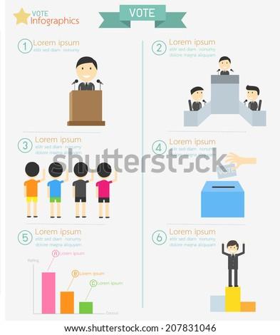 Vote Infographics - stock vector