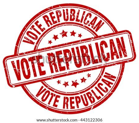 vote republican red grunge round vintage rubber stamp.vote republican stamp.vote republican round stamp.vote republican grunge stamp.vote republican.vote republican vintage stamp. - stock vector