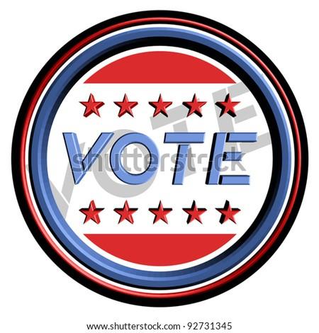 Vote sticker - stock vector
